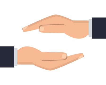 gesticulation: flat design shelter hand icon vector illustration