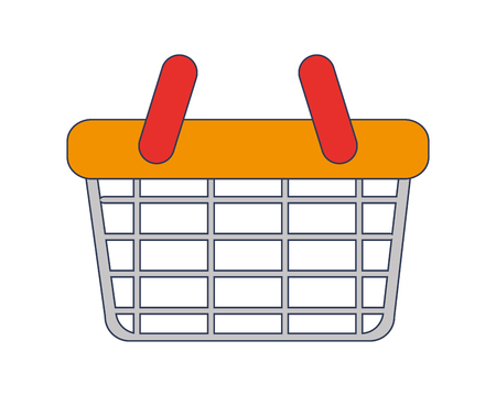flat design shopping basket icon vector illustration