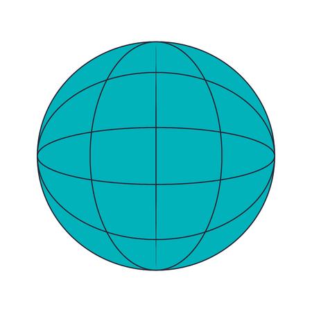 flat design earth globe diagram icon vector illustration Illustration