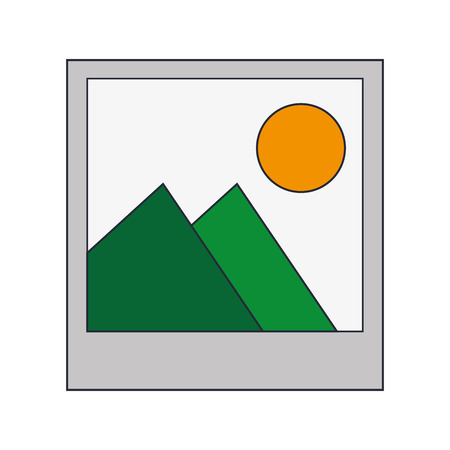 feature films: flat design instant photo icon vector illustration
