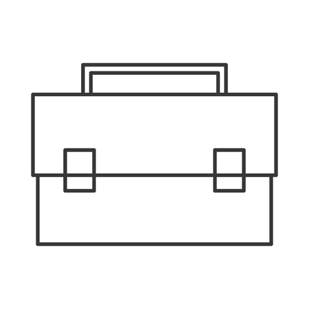 business briefcase: flat design business briefcase icon vector illustration