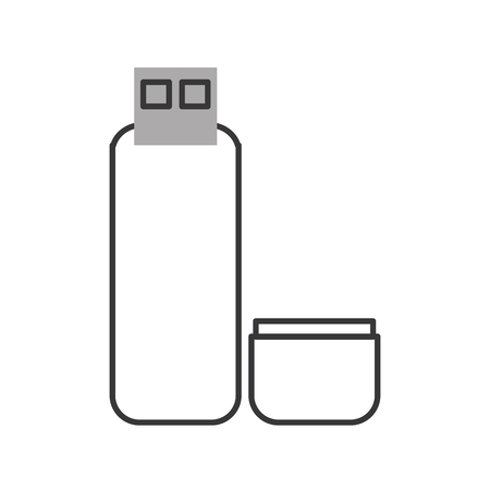 flat design usb flash drive icon vector illustration