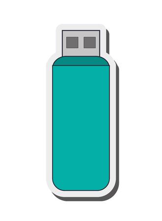 kilobyte: flat design usb flash drive icon vector illustration