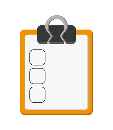 roster: flat design clipboard with check list icon vector illustration