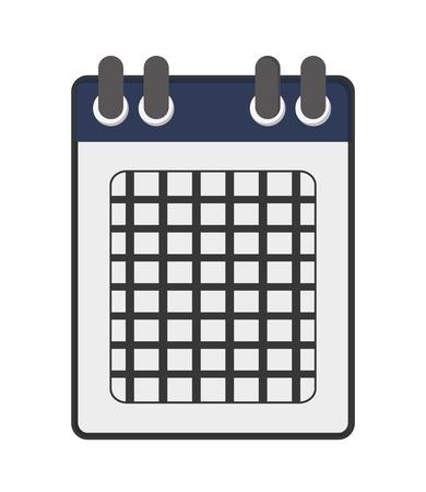 calendar design: flat design single calendar icon vector illustration Illustration