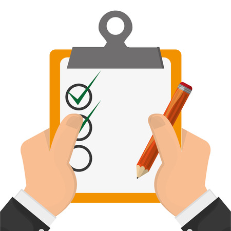 todo list: flat design clipboard with check list icon vector illustration