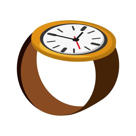flat design analog wristwatch icon vector illustration