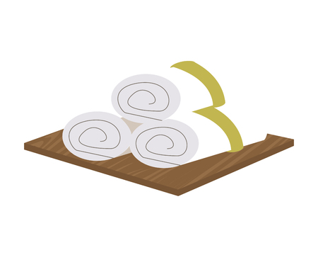 rock salt: flat design asian spa towels icon vector illustration