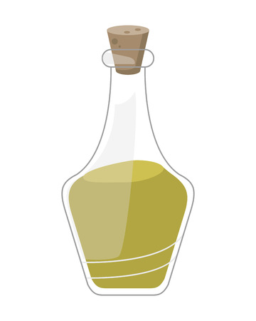 flat design essential oil spa icon vector illustration Illustration
