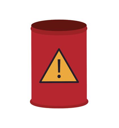 residuos toxicos: dise�o plano Barril de la basura t�xica icono de la ilustraci�n del vector
