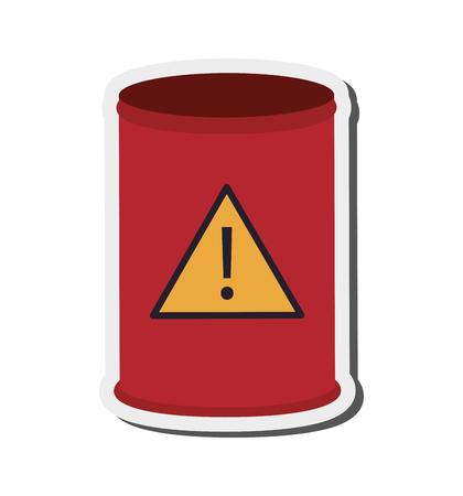 toxic waste: flat design toxic waste barrel icon vector illustration