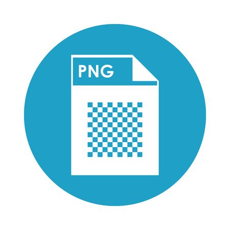 png: flat design PNG file icon vector illustration