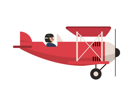 flat design aerobatic or trainer airplane icon vector illustration