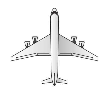 comercial: flat design comercial airplane icon vector illustration