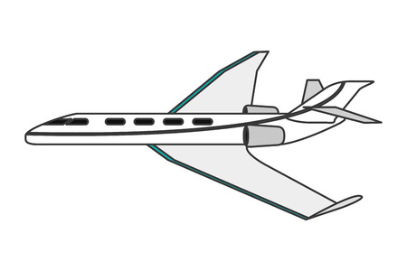 fuselage: flat design comercial airplane icon vector illustration