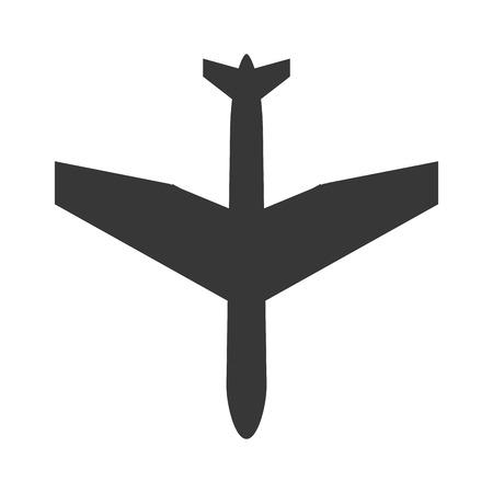 comercial: flat design comercial airplane icon vector illustration