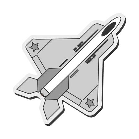 combat: flat design combat aircraft icon vector illustration Illustration