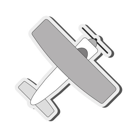aeronautics: flat design aerobatic or trainer airplane icon vector illustration