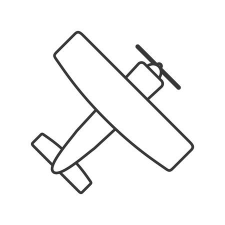 prop: flat design aerobatic or trainer airplane icon vector illustration