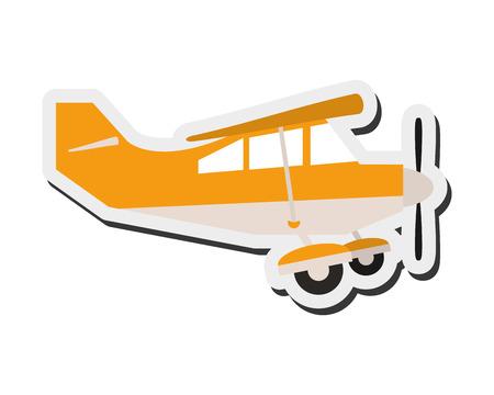 pilot cockpit: flat design aerobatic or trainer airplane icon vector illustration