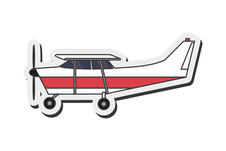 aerobatic: flat design aerobatic or trainer airplane icon vector illustration