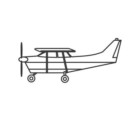 cockpit: flat design aerobatic or trainer airplane icon vector illustration