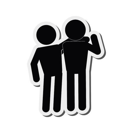 design plat solidarité pictogramme icône illustration vectorielle
