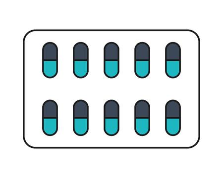 capsules: flat design medicine capsules icon vector illustration Illustration