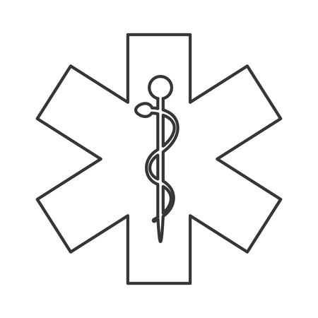 esculapio: varilla de dise�o plano del asclepius icono de la ilustraci�n del vector Vectores