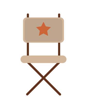 director chair: flat design director chair icon vector illustration