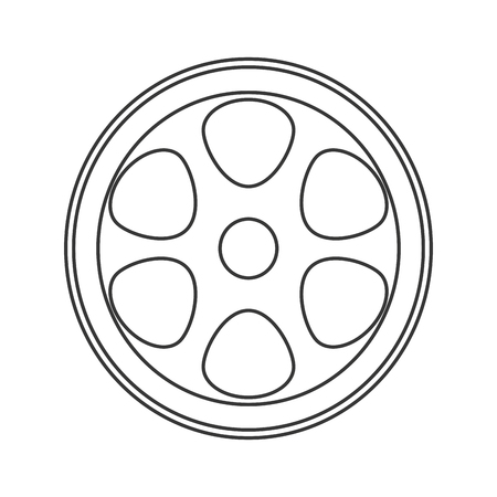cine: flat design film reel icon vector illustration