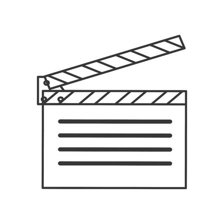 directors cut: flat design open clapperboard icon vector illustration Illustration