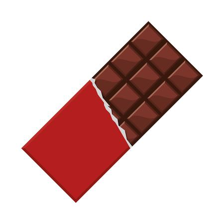 barra de chocolate icono de la ilustración del vector plana diseño del caramelo Ilustración de vector