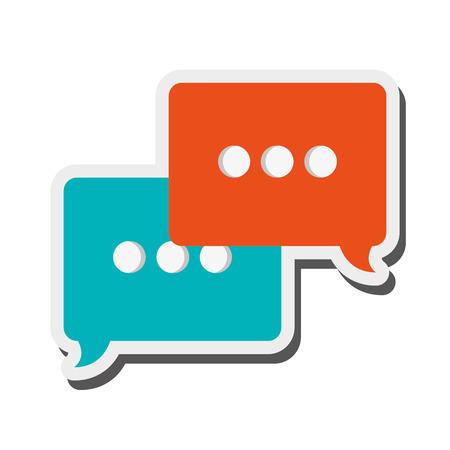 converse: flat design conversation bubble icon vector illustration