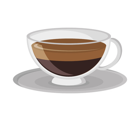 decaf: flat design coffee cup icon vector illustration