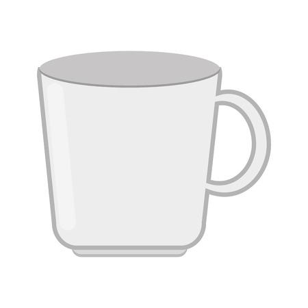 matted: flat design white mug icon vector illustration Illustration