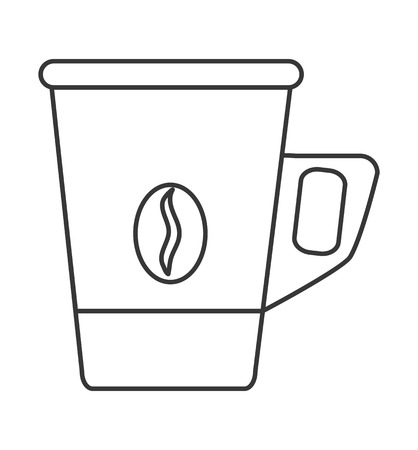 long bean: flat design disposable coffee cup icon vector illustration Illustration