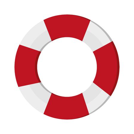 flat design life preserver icon vector illustration  イラスト・ベクター素材
