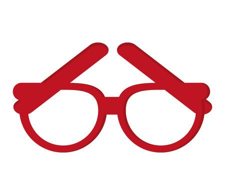 health care decisions: flat design single glasses icon vector illustration