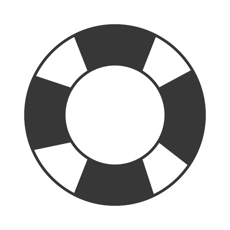 flat design life preserver icon vector illustration 向量圖像