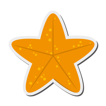 flat design cute starfish icon vector illustration