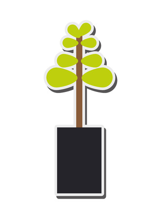 sprout: flat design plant sprout icon vector illustration Illustration