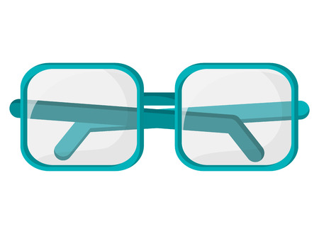 flat design square frame glasses icon vector illustration