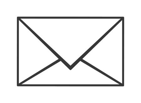 envelope icon: flat design closed envelope icon vector illustration