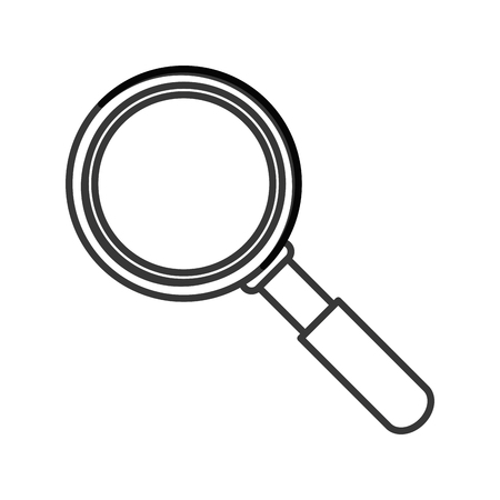 magnifying glass icon: flat design magnifying glass icon vector illustration