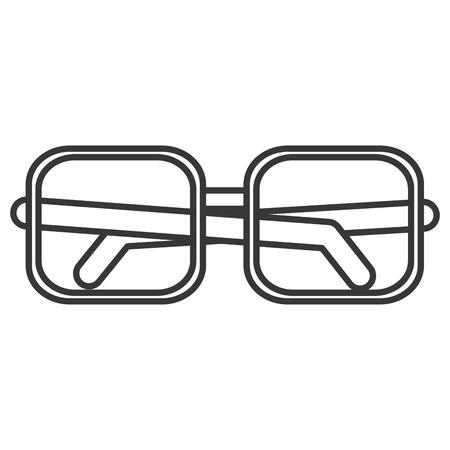 health care decisions: flat design square frame glasses icon vector illustration