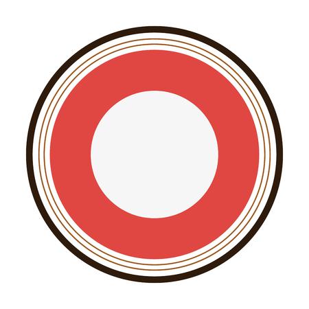 interlinked: flat design round badge icon vector illustration