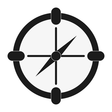flat design single compass icon vector illustration