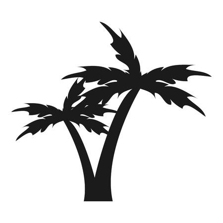 subtropical: flat design palm tree icon vector illustration