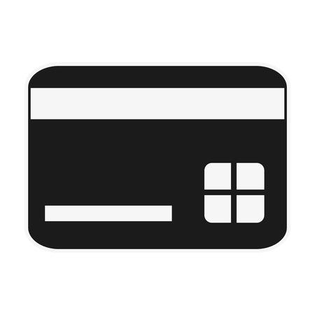 transact: flat design credit card icon vector illustration
